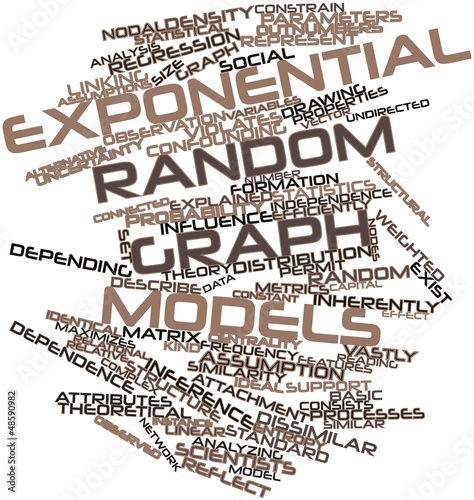 Word cloud for Exponential random graph models