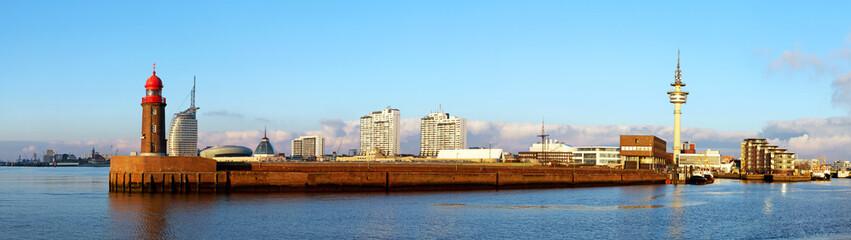 Panorama der Hafenstadt