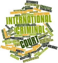 Word cloud for International Criminal Court