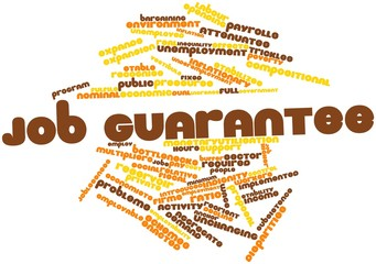 Word cloud for Job guarantee