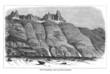 Drei Wanderer vor dem Unteraargletscher (Alte Lithographie)