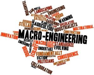 Word cloud for Macro-engineering