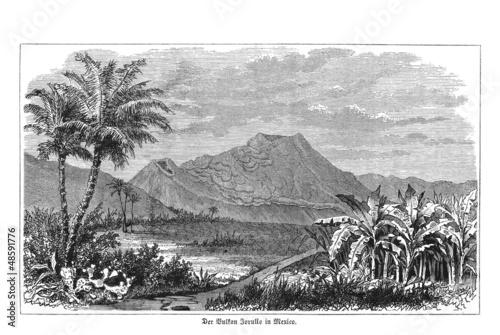 Historische Ansicht des El Jorullo, Mexiko - 48591776