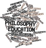 Word cloud for Philosophy education poster