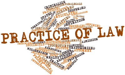 Word cloud for Practice of law