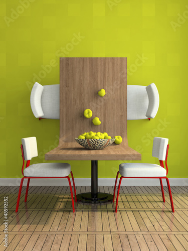 Part of the abstract dining-room