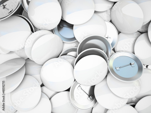Variety of blank buttons