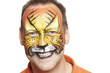 Man with face painting tiger
