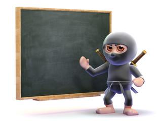 Ninja lessons at the blackboard