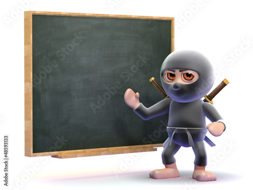 Ninja lessons at the blackboard