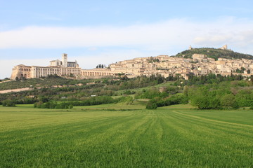 Panorama of Assisi, Italy