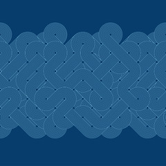 Seamless abstract border. Twisted lines