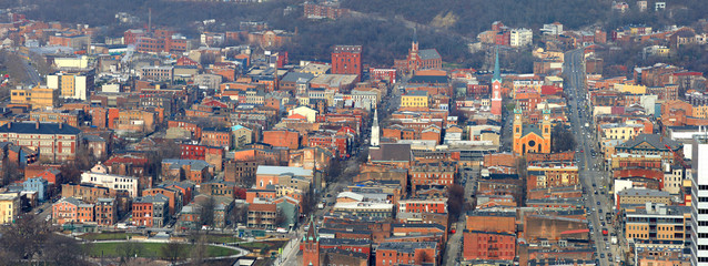Panoramic view of Cincinnati historic district