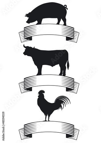 Rind, Schwein, Geflügel