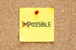 Sticky Note Possible Not Impossible