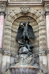 Fountain Saint-Michel in Paris