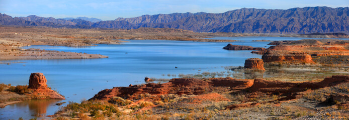 Panoramic view of Lake Mead recreation area