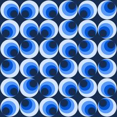 Muster mit blauen Kreisen