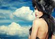 Fur Fashion. Beautiful Girl in Fur Hat. Winter Woman Portrait on