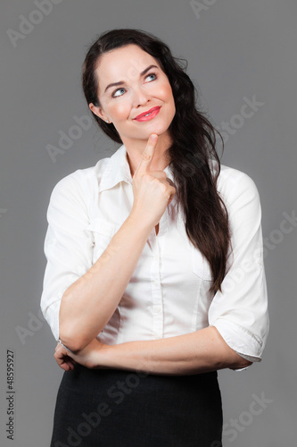 Portrait of a pensive business woman