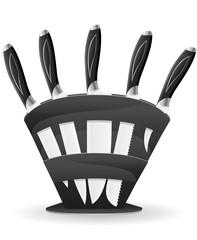knife set for the kitchen vector illustration