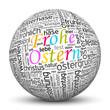 Kugel, Frohe Ostern, Osterfest, Osterkugel, SEO, Ostergruß, 3D