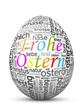Osterei, Frohe Ostern, Osterfest, SEO, Ostergruß, Word Cloud, 3D