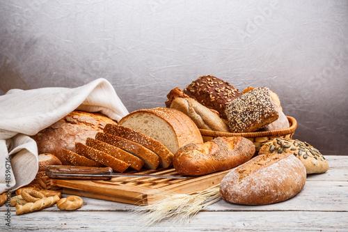 Fotobehang Bakkerij Collection of baked bread