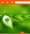 Nature leaves infographic banner