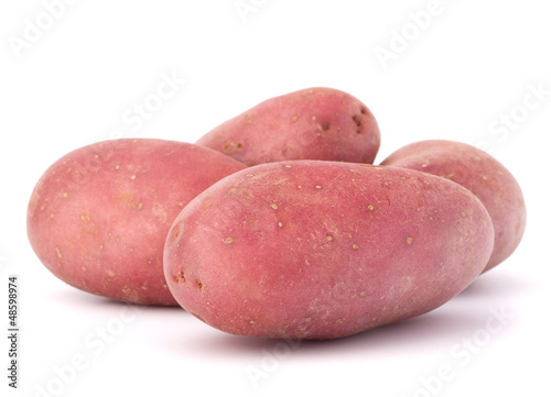 New potato tuber heap