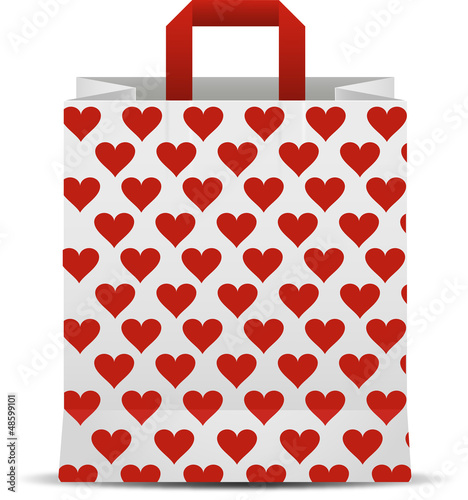 Bag with hearts