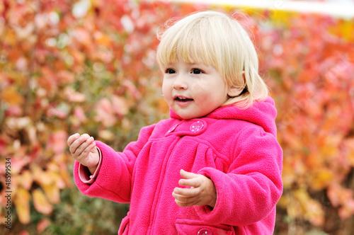 walking toddler girl