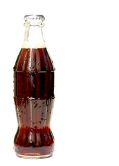 a bottle of  soda isolated