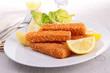 fish fingers with garnish