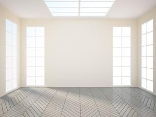 gray empty interior