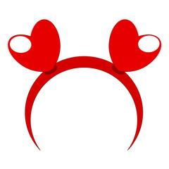 Red headband heart