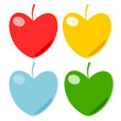 Heart fruit paper vector