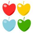 Heart fruit paper vector