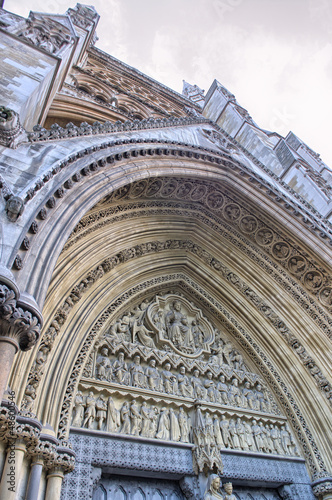 Westminster Abbey Facade exterior view - London