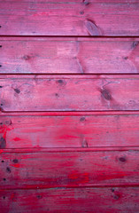 Detail of red wall from a beach hut.