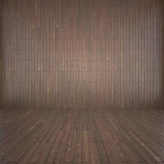 empty wooden brown interior