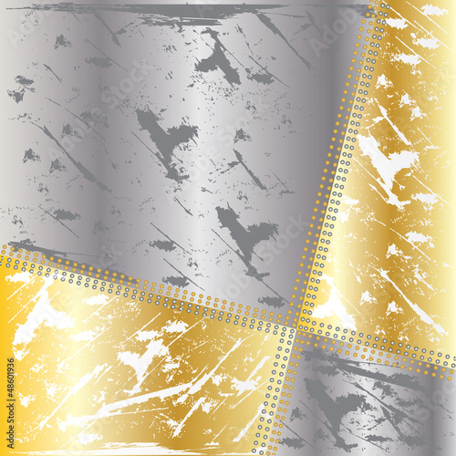Vector old metallic background