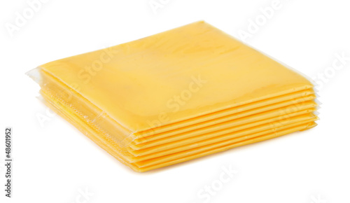 Wrapped processed sliced cheese