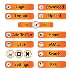 Vector modern Web button set