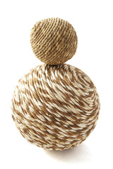 Wooden twisted ball