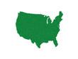 AMERICA MAP GRASS GREEN