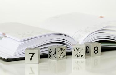 Calendar and a diary