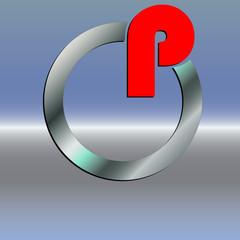 Logo P Ring
