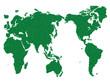 WORLD MAP GRASS GREEN
