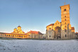 Orthodox and catholic cathedrals in Alba Iulia fortress,panorama